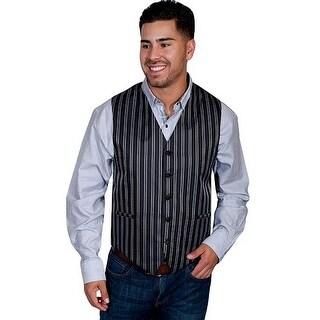 Scully Vest Mens Quality Adjustable Pinstripe Welt Pockets XT