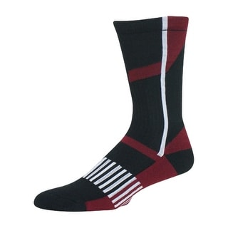 HOOey Western Performance Socks Boys Kids Youth L Black Red 1676SC2Y