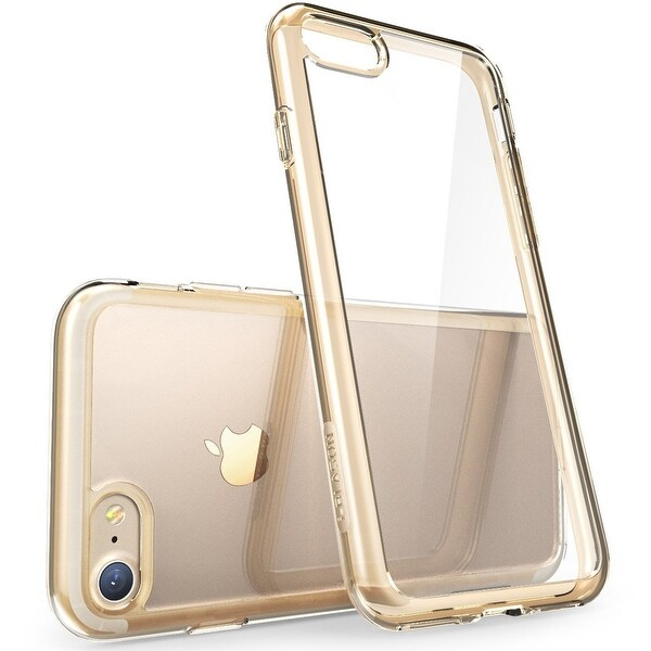 iPhone 7 Case, Scratch Resistant, i-Blason Clear, Halo Series, for Apple iPhone 7 Cover 2016 Release-Clear/Gold