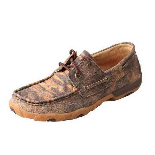 Twisted X Casual Shoes Womens Driving Mocs Distressed Tiger