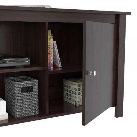 Espresso Finish Wood Media Center and TV Stand - 24 x 62