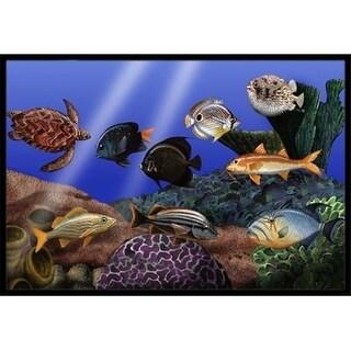 Carolines Treasures PTW2028MAT Undersea Fantasy 1 Indoor & Outdoor Mat 18 x 27 in.