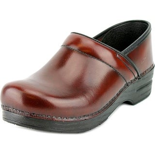 Dansko Professional Cabrio Round Toe Leather Clogs