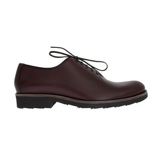 Dolce & Gabbana Bordeaux Leather Laceup Formal Shoes - eu44-us11