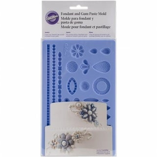Fondant & Gum Paste Silicone Mold - Jewelry, 5.7 x 10.6 in.