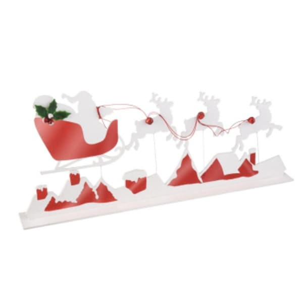 "31"" Reindeer and Sleigh Silhouette Table Top Christmas Decoration - multi"
