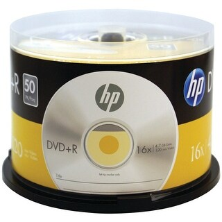 Hp 4.7gb 16x Dvd+rs (50-ct Cake Box Spindle)