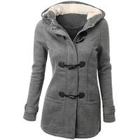 Womens Winter Fashion Outdoor Warm Wool Blended Classic Pea Coat Jacket