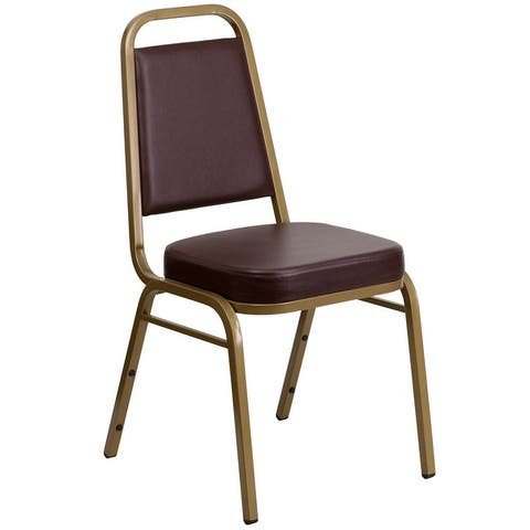 """Trapezoidal Back Stacking Banquet Chair with 2.5"""" Thick Seat"""