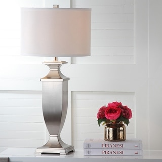 """Link to Safavieh Lighting 32-inch Ambler Nickel Table Lamp (Set of 2) - 15""""x15""""x31.5"""" Similar Items in Table Lamps"""
