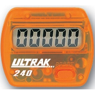 Ultrak 240 - Electronic Step Counter Pedometer - Orange