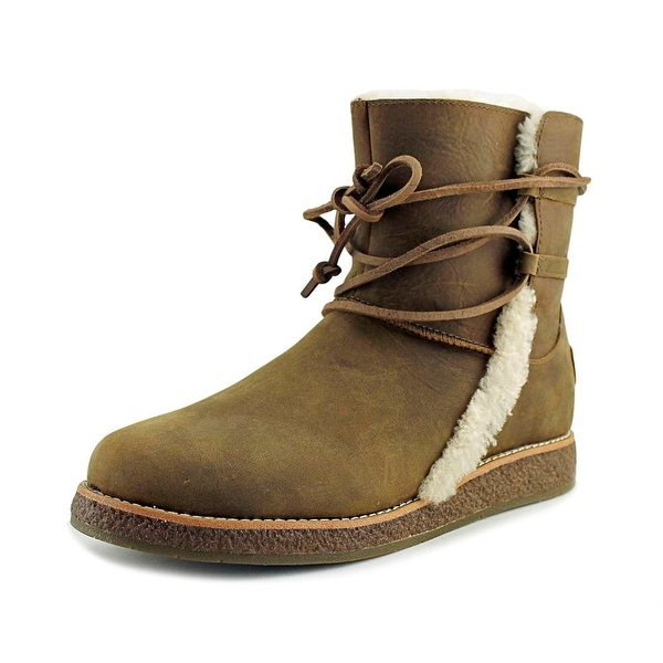 Ugg Australia Luisa Women Round Toe Leather Brown Snow Boot