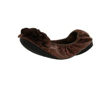 Wanted Shoes Women's Gangster Ballerina Flat - Bronze - 5.5 b(m) us