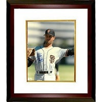 Will Clark signed San Francisco Giants 8x10 Photo Custom Framed white  jerseythrowingclose up ab3e2a693
