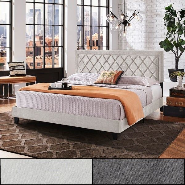 Dartington Velvet Fabric Black Finish Platform Bed by iNSPIRE Q Modern. Opens flyout.