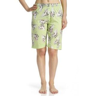 Hue Sleepwear Women's Butterfly Sleep Bermuda Pajama Shorts
