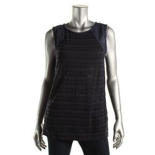Lucky Brand Womens Eyelet Sleeveless Casual Top - M
