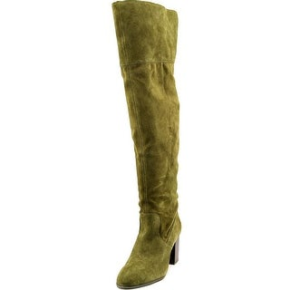 Jessica Simpson Ebyy Women Round Toe Suede Green Over the Knee Boot
