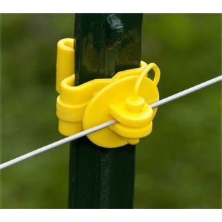 Zareba ITPLY-Z T-Post Pin Lock Insulator, Yellow