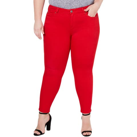 Celebrity Pink Womens Plus Colored Skinny Jeans Denim Mid-Rise