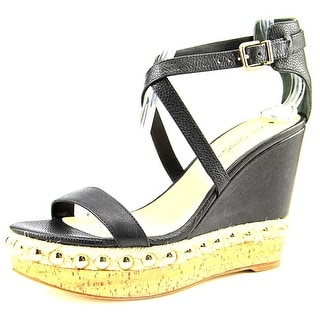 Via Spiga Moss Open Toe Leather Wedge Sandal