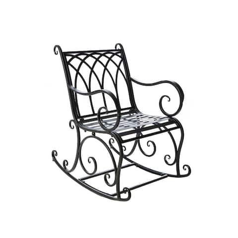 Black Rocking Chair - 23.2x36.6x32.6