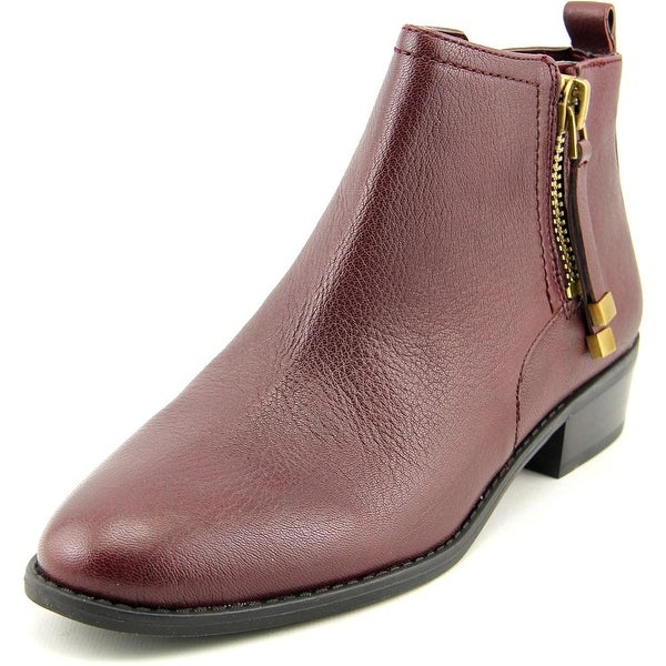 Franco Sarto Skylar Women Round Toe Leather Burgundy Bootie