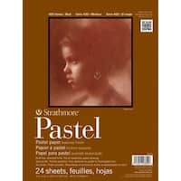 """24 Sheets - Strathmore Assorted Color Pastel Paper Pad 9""""X12"""""""