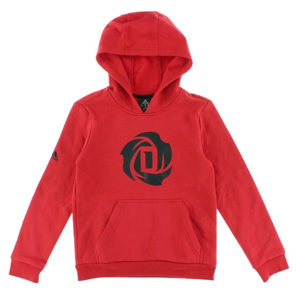 Shop Adidas Boys D Rose Logo Hoodie Red - Red Black - S - Free Shipping On  Orders Over  45 - Overstock - 22694164 335e1f956d31