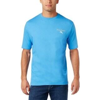 Tommy Bahama Everyone Deserves A Second Shot Campanula Blue T-Shirt Small S