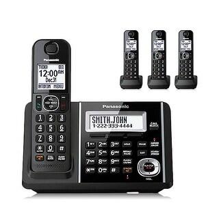 """Panasonic KX-TGF344B 4 Handset Cordless Phone W/ 2.5"""" LCD Display Brand New"""