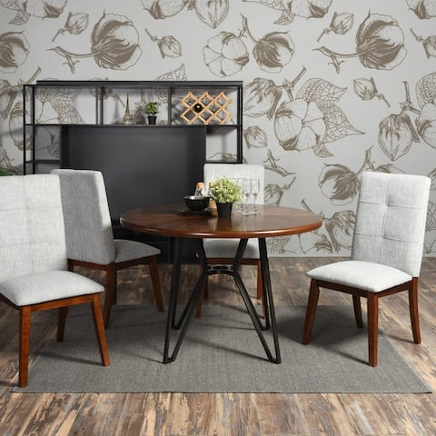 Furniture R Mid-Century Modern Round Wood Dining Table
