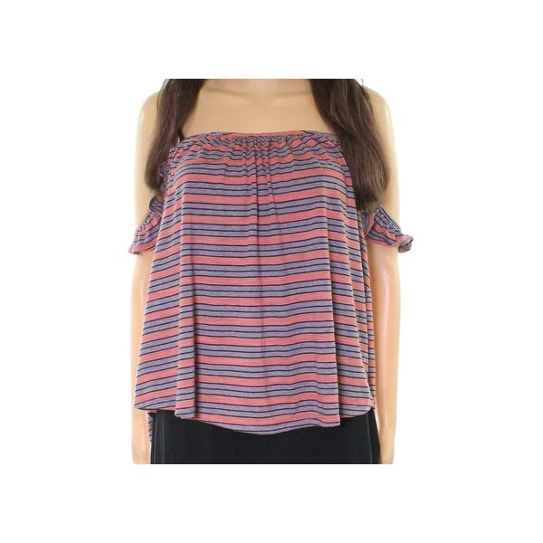 5167457d56 Shop Lush NEW Pink Gray Women's Size XL Striped Ruffled-Strap Knit Top - On  Sale - Free Shipping On Orders Over $45 - Overstock - 21549787