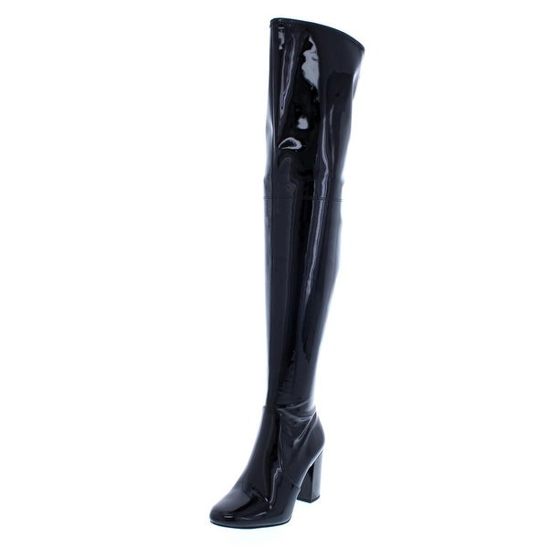 2ef6039873c Kenneth Cole New York Womens Angelica Over-The-Knee Boots Patent Leather