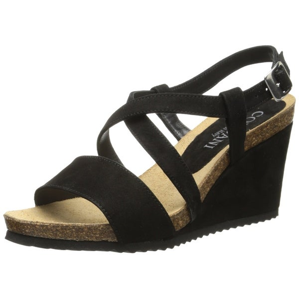 e0898577b08 Shop Cordani Black Atwell Shoes Size 10M Wedges Suede Sandals - Free ...