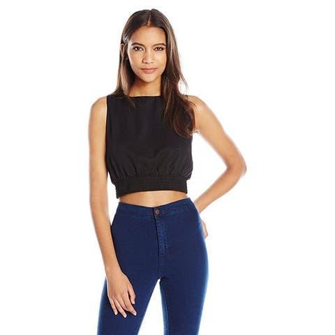 Dolce Vita Women's Mackenzie Crop Top, Black, Sz: M