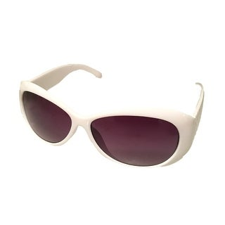 Esprit Womens Sunglass 19279 536 Oval White Plastic Fashion, Smoke Lens