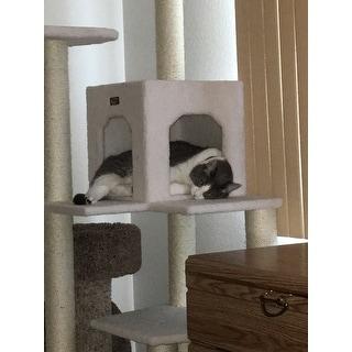 Armarkat Ivory Faux Fleece 68-inch Cat Tree Gym
