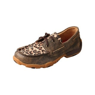 Twisted X Western Shoes Girls Kids Leopard Casual Distressed YDM0028