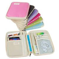 "JAVOedge Carry All Passport Document Travel Wallet with Zipper Closure (7.5"" L x .8"" W x 9"" H) and Bonus Storage Bag"