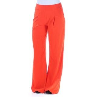 Womens Orange Wear To Work Wide Leg Pants Size 4