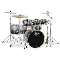 PDP  Silver To Black Fade - Chrome Hardware Kit Drums, 7 Piece
