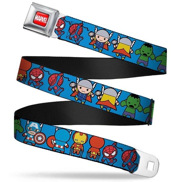 Marvel Universe Marvel Full Color Red White Kawaii Avengers Action Poses Seatbelt Belt