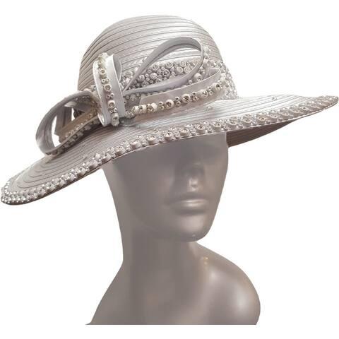 Women's Year-round Designer Couture Satin Ribbon Hat
