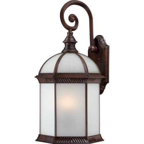 Nuvo Lighting 60/4988 Boxwood ES Single-Light Wall Lantern with Frosted Glass Panels