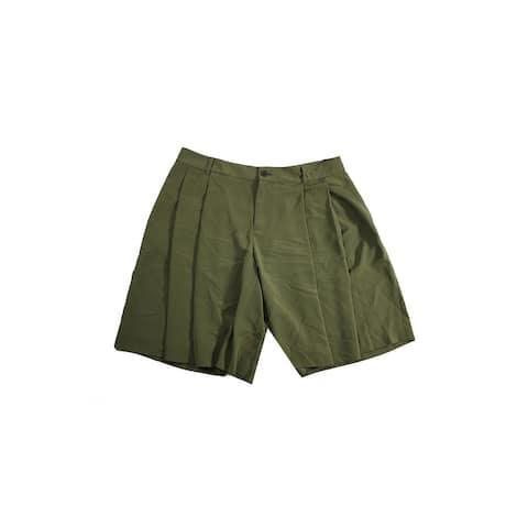 Lauren Ralph Lauren Olive Pleated Shorts 6