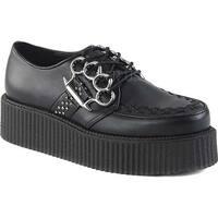 Demonia Men's V Creeper 516 Oxford Black Vegan Leather