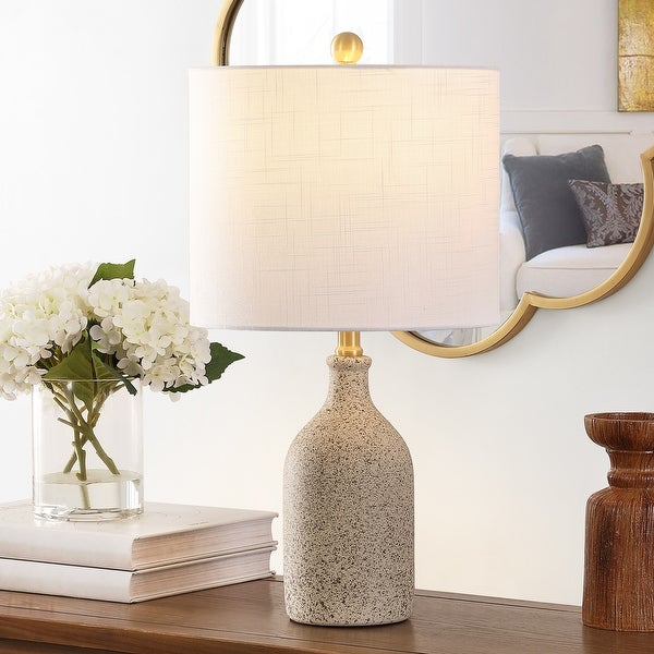 "SAFAVIEH Lighting 23-inch Gunnar Ceramic Table Lamp - 12"" x 12"" x 23"". Opens flyout."