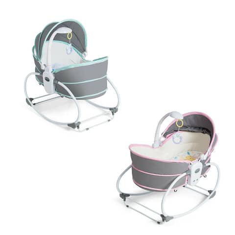 Gymax 5 in 1 Portable Baby Rocking Bassinet Multi-Functional Crib w/