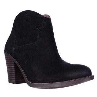 Lucky Brand Eller Short Western Boots, Black